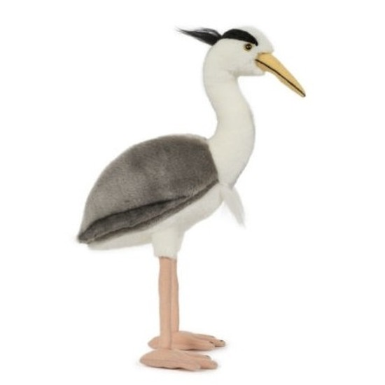 Pluche speelgoed reiger vogel knuffeldier 33 cm