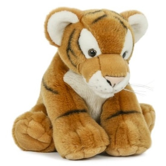 Pluche speelgoed tijger knuffeldier 30 cm