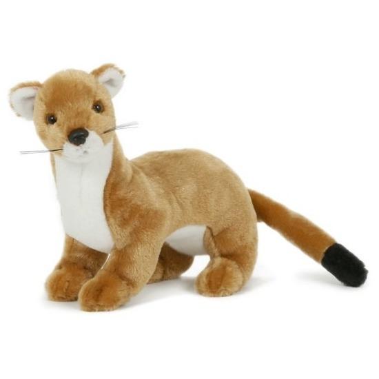 Pluche speelgoed wezel knuffeldier 23 cm