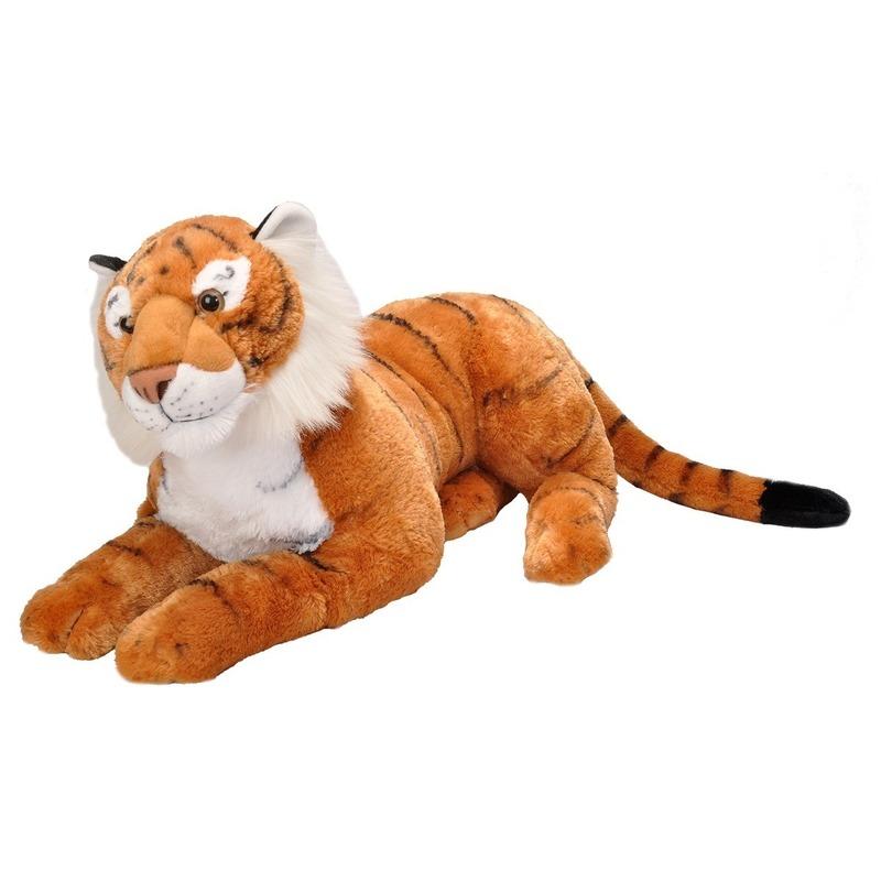 Pluche tijger grote dierenknuffel 76 cm