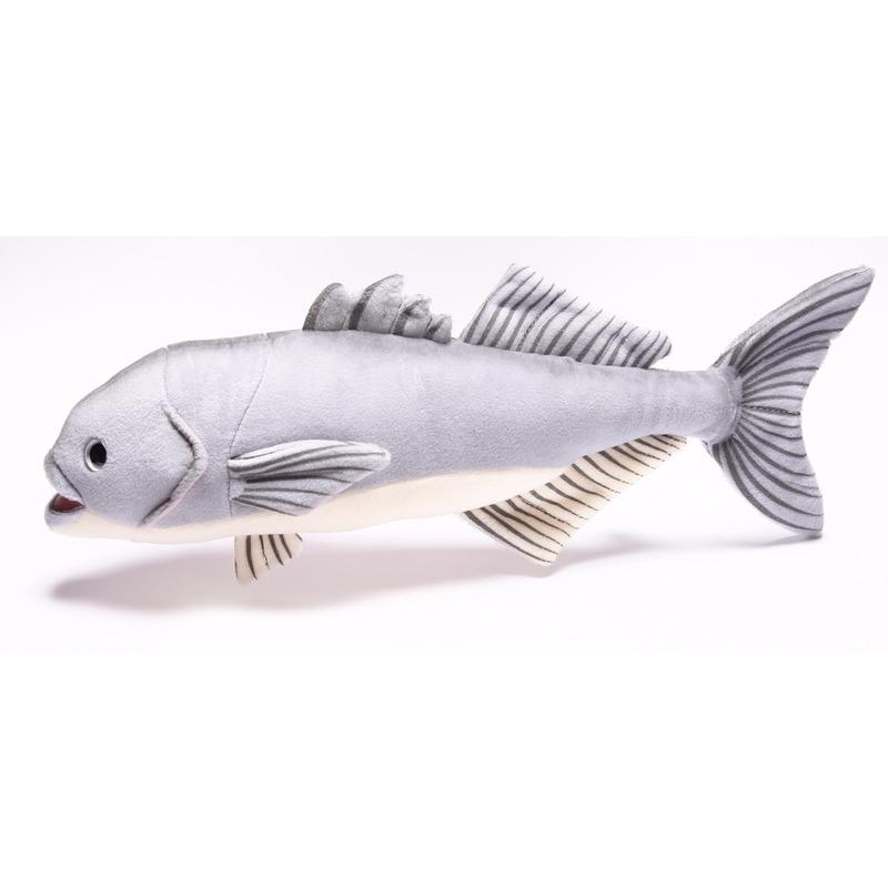 Pluche vissen knuffeldier blauwbaars 43 cm