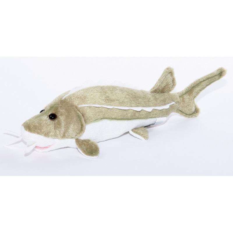 Pluche vissen knuffeldier steur 25 cm