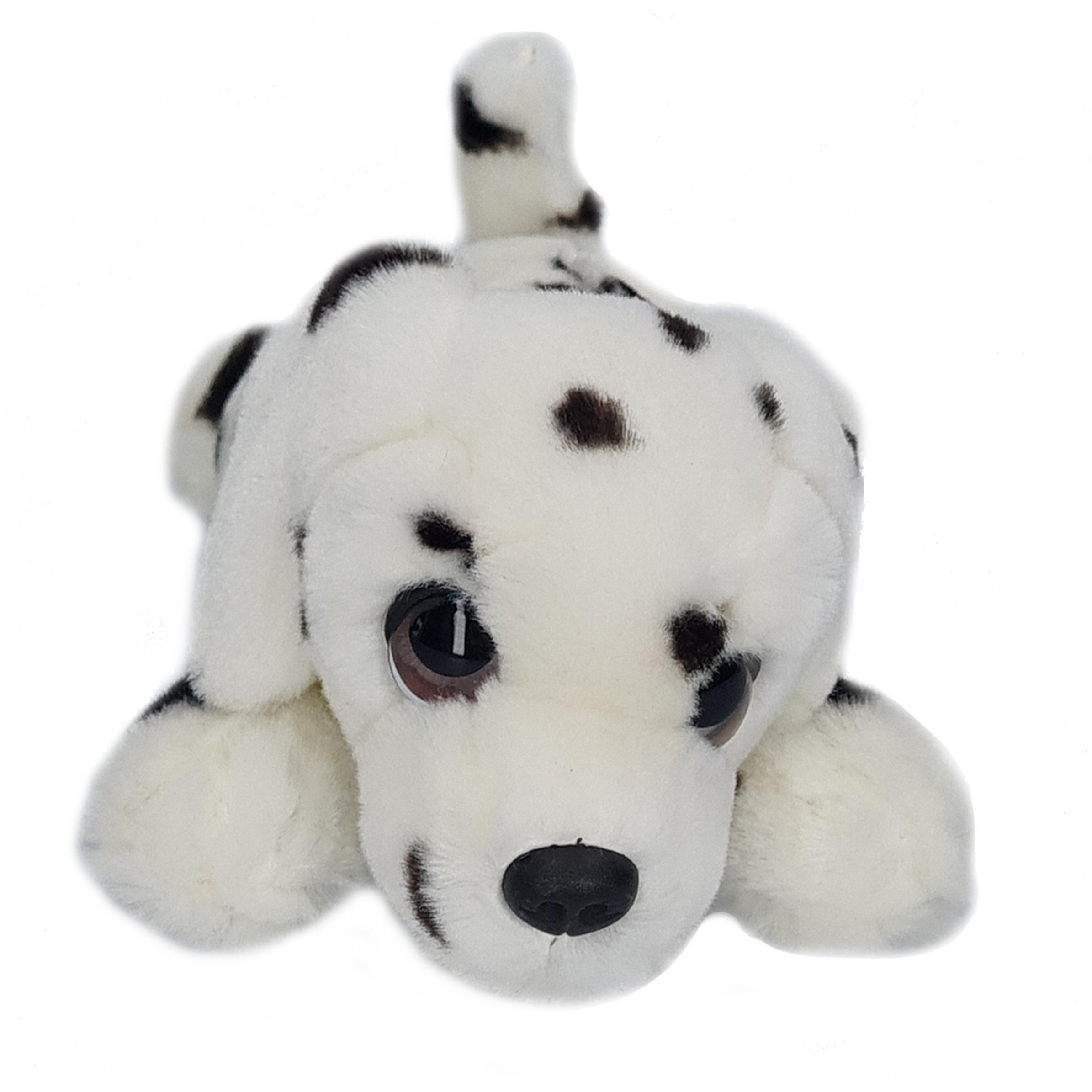 Pluche wit met zwarte stippen Dalmatier honden knuffel 25 cm