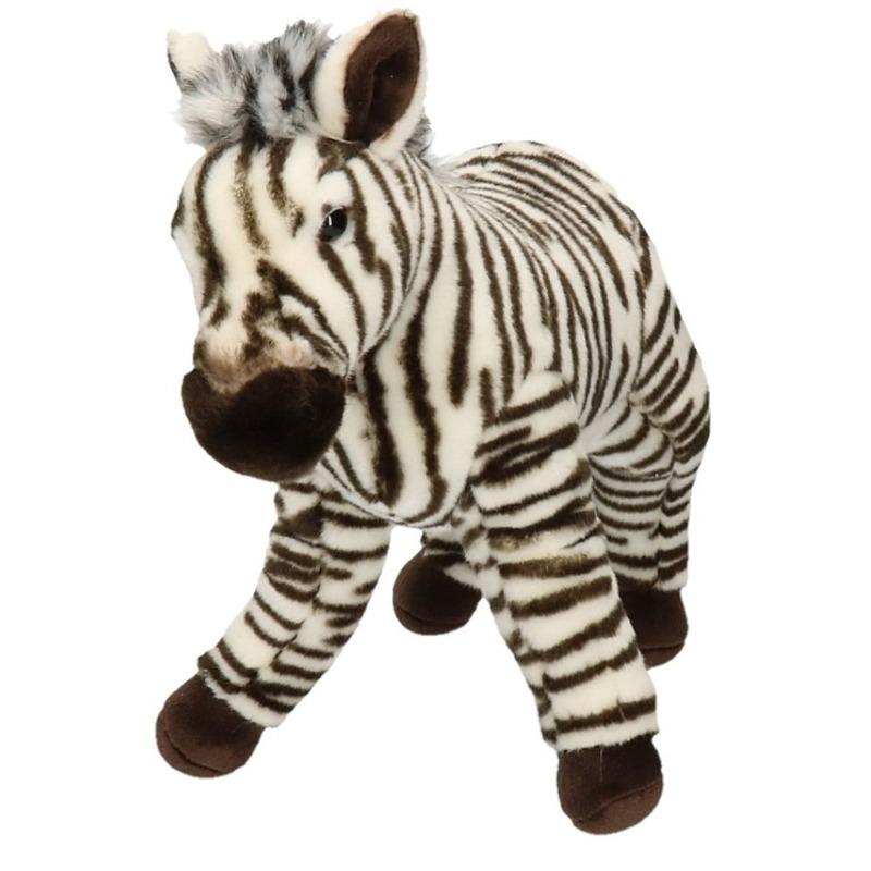 Pluche zebra knuffel dier 32 cm