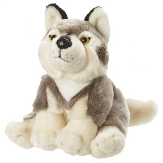 Pluche zittende wolven 18 cm