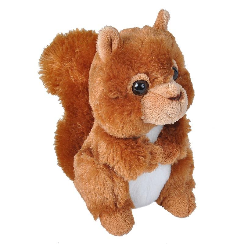 Rode eekhoorns knuffels 18 cm knuffeldieren