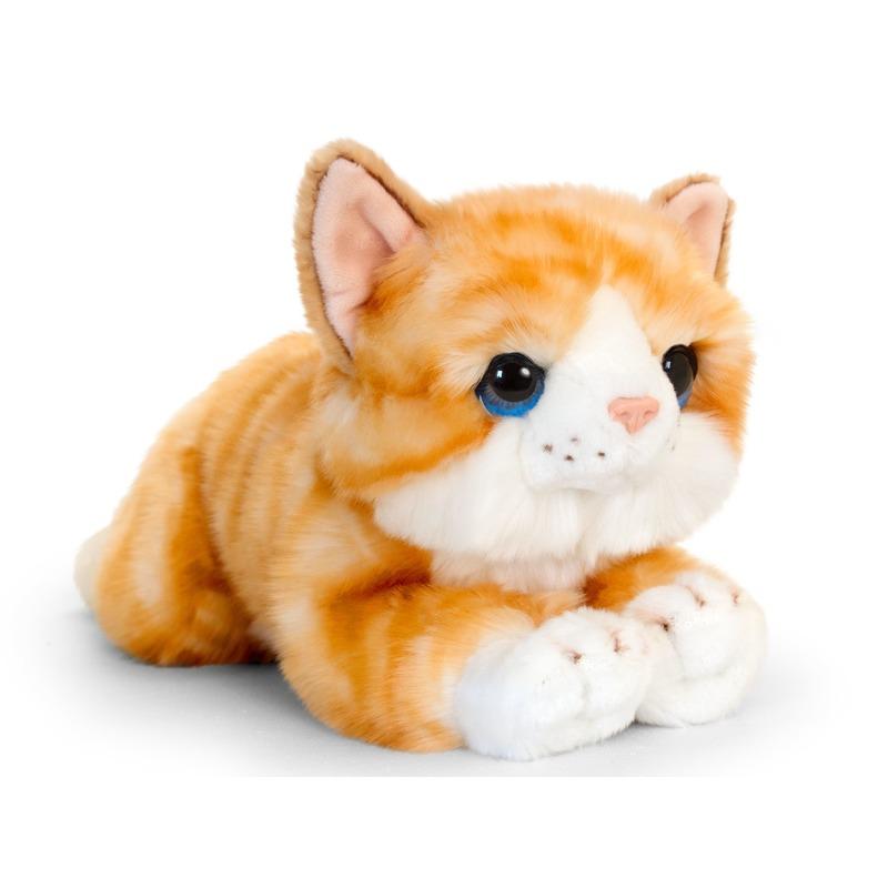 Rode kitten knuffelkat 25 cm