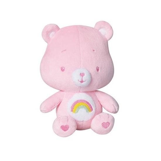 Roze troetelberen knuffel met rammelaar 16 cm