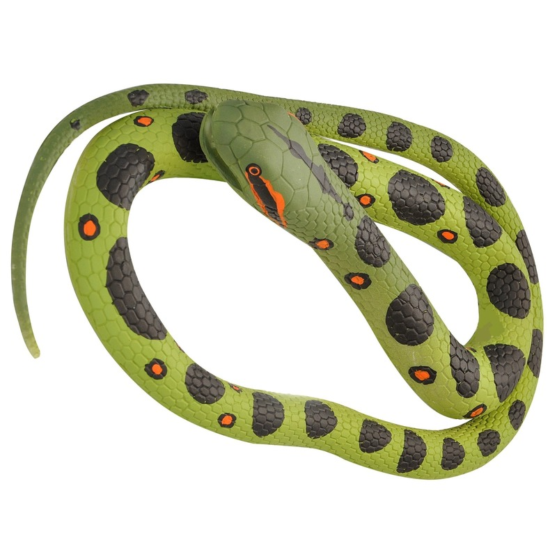 Rubberen dieren anaconda mega slang 183 cm