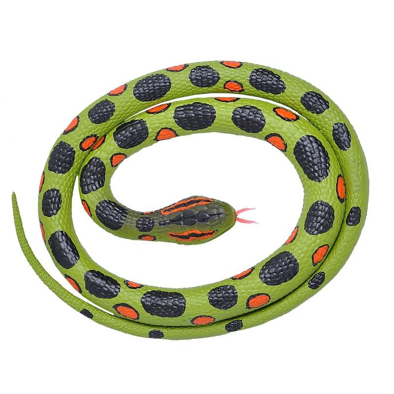 Rubberen dieren anaconda slang 117 cm