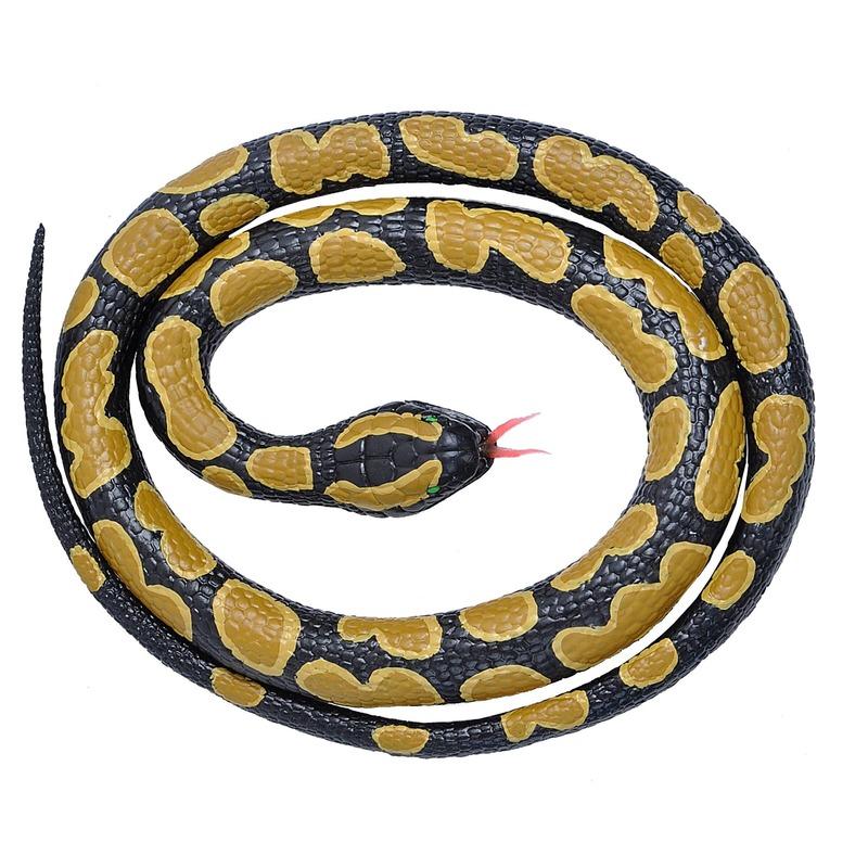 Rubberen dieren koningspython slang 117 cm