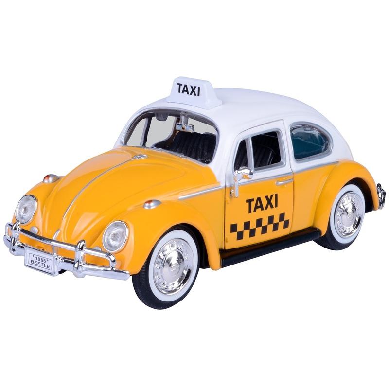 Schaalmodel Volkswagen Kever taxiauto 1:24