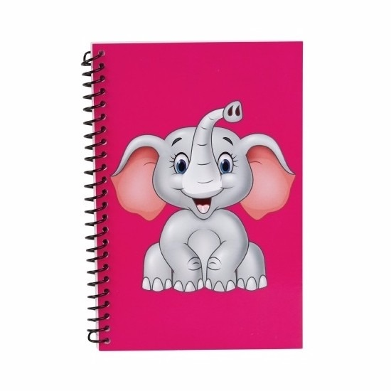 Schriften olifant thema roze 18cm
