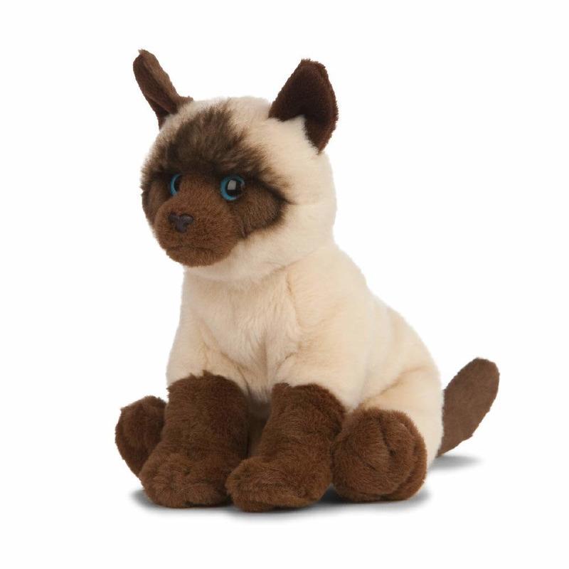 Siamees/Siamese knuffel katten/poezen 20 cm knuffeldieren