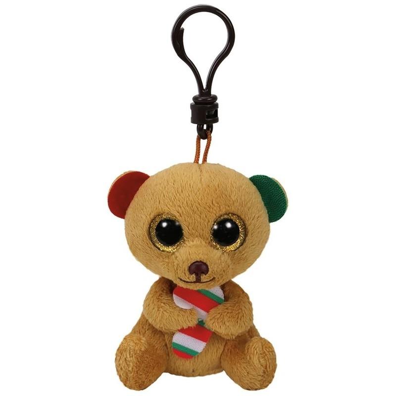 Sleutelhanger kerstbeertje Bella Ty Beanie 15 cm