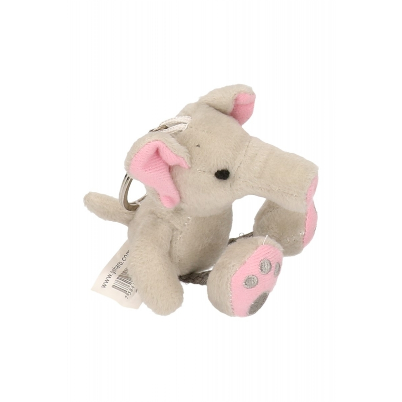 Sleutelhangers olifant knuffelbeestje 10 cm