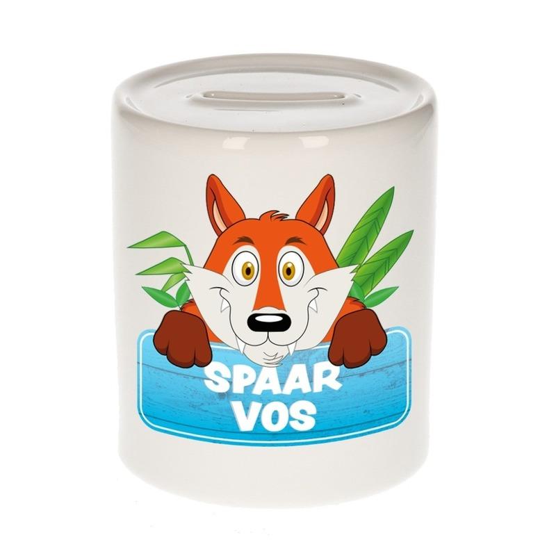 Spaarpot van de spaar vos Foxy 9 cm