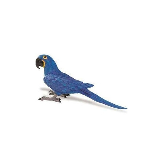 Speeldier blauwe Ara papegaai 11 cm