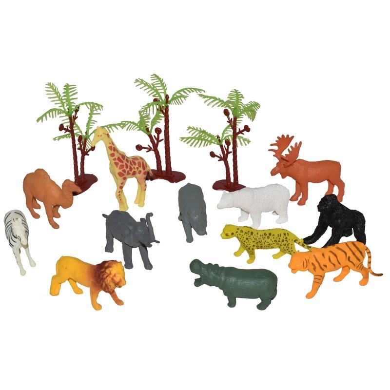 Speelemmer met mini figuurtjes Afrikaanse dieren