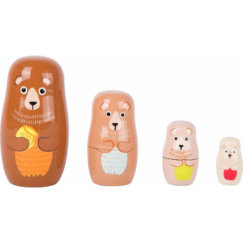 Speelgoed houten beren baboesjka set