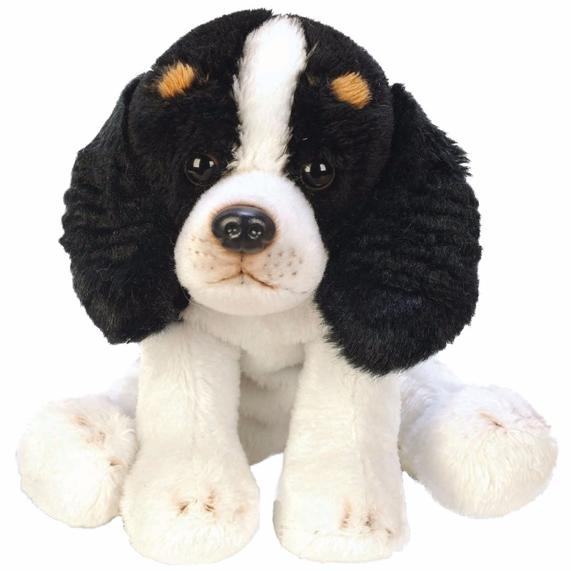 Speelgoed knuffel pluche King Charles Spaniel 13 cm