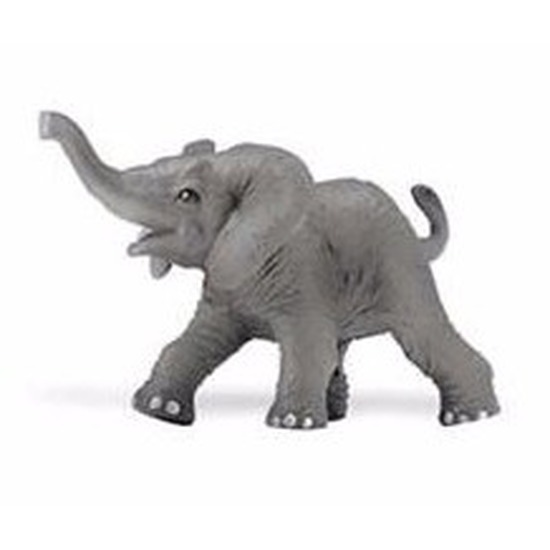 Speelgoed nep Afrikaanse babyolifant 8 cm
