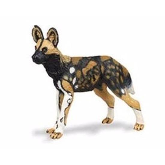 Speelgoed nep Afrikaanse wilde hond 9 cm