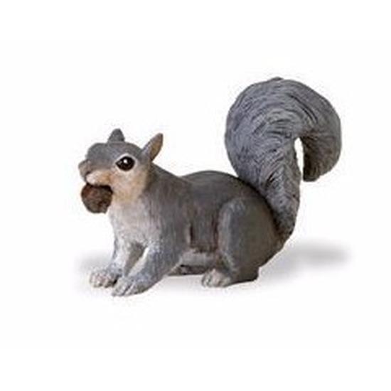 Speelgoed nep grijze eekhoorn 7 cm