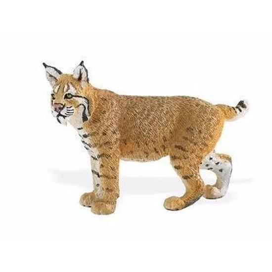Speelgoed nep rode lynx 7 cm