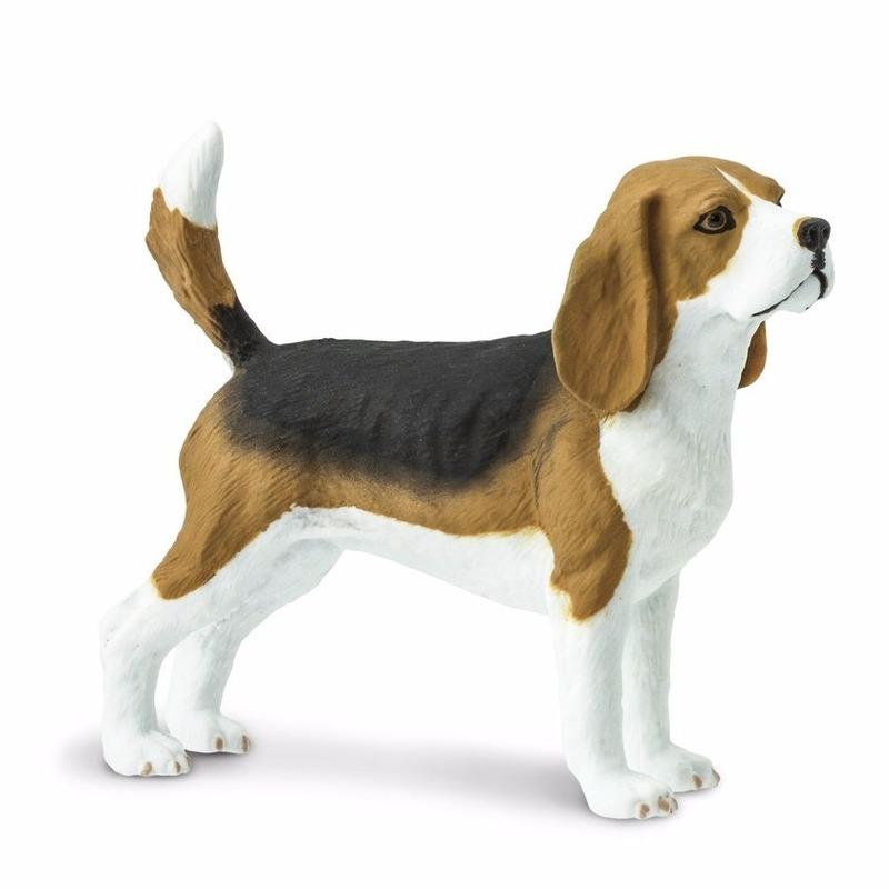 Speelgoed nep tricolor Beagle hond 6 cm