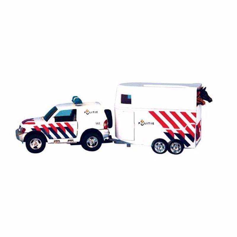 Speelgoed politie paardentrailer
