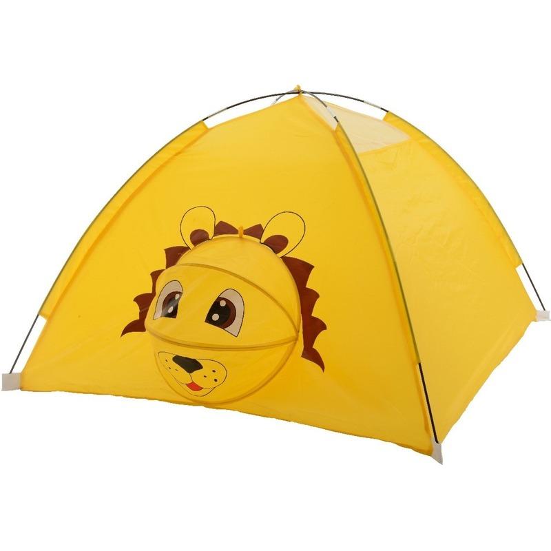 Speelgoed speeltent leeuw dier/amfibie120 x 120 x 80 cm