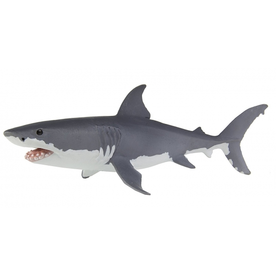 Speelgoed witte haai 13 cm