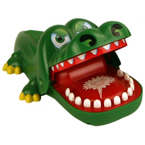 Spel krokodil met kiespijn