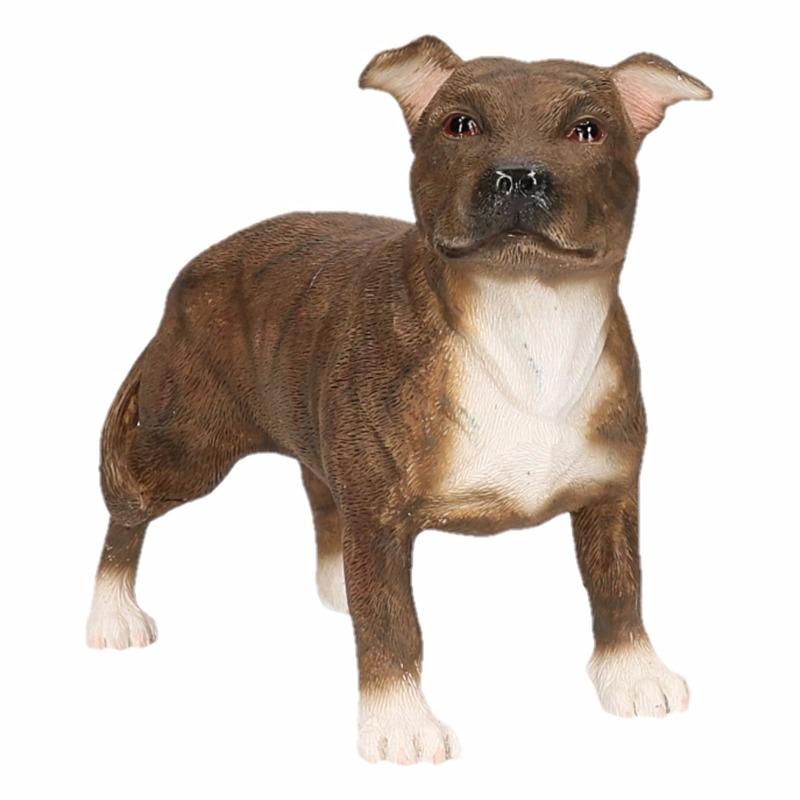 Staff Bull Terrier decoratie beeldje 15 cm