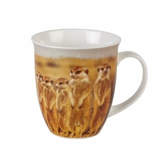 Stokstaartjes koffiebeker/mok 11 cm