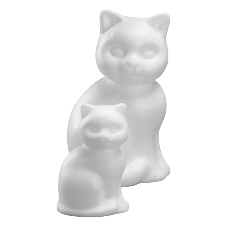 Styropor piepschuim katjes van 13 cm