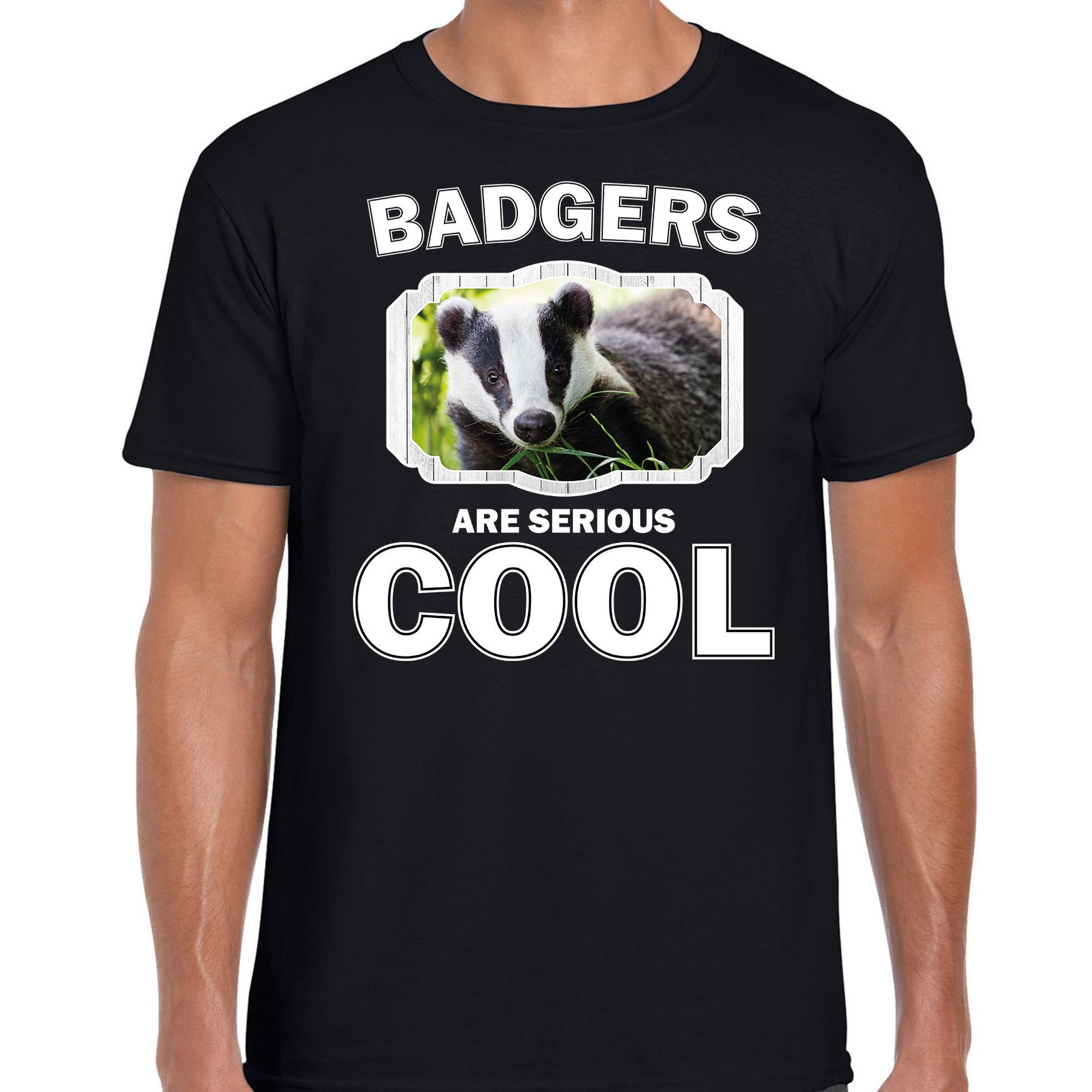 T-shirt badgers are serious cool zwart heren - dassen/ das shirt