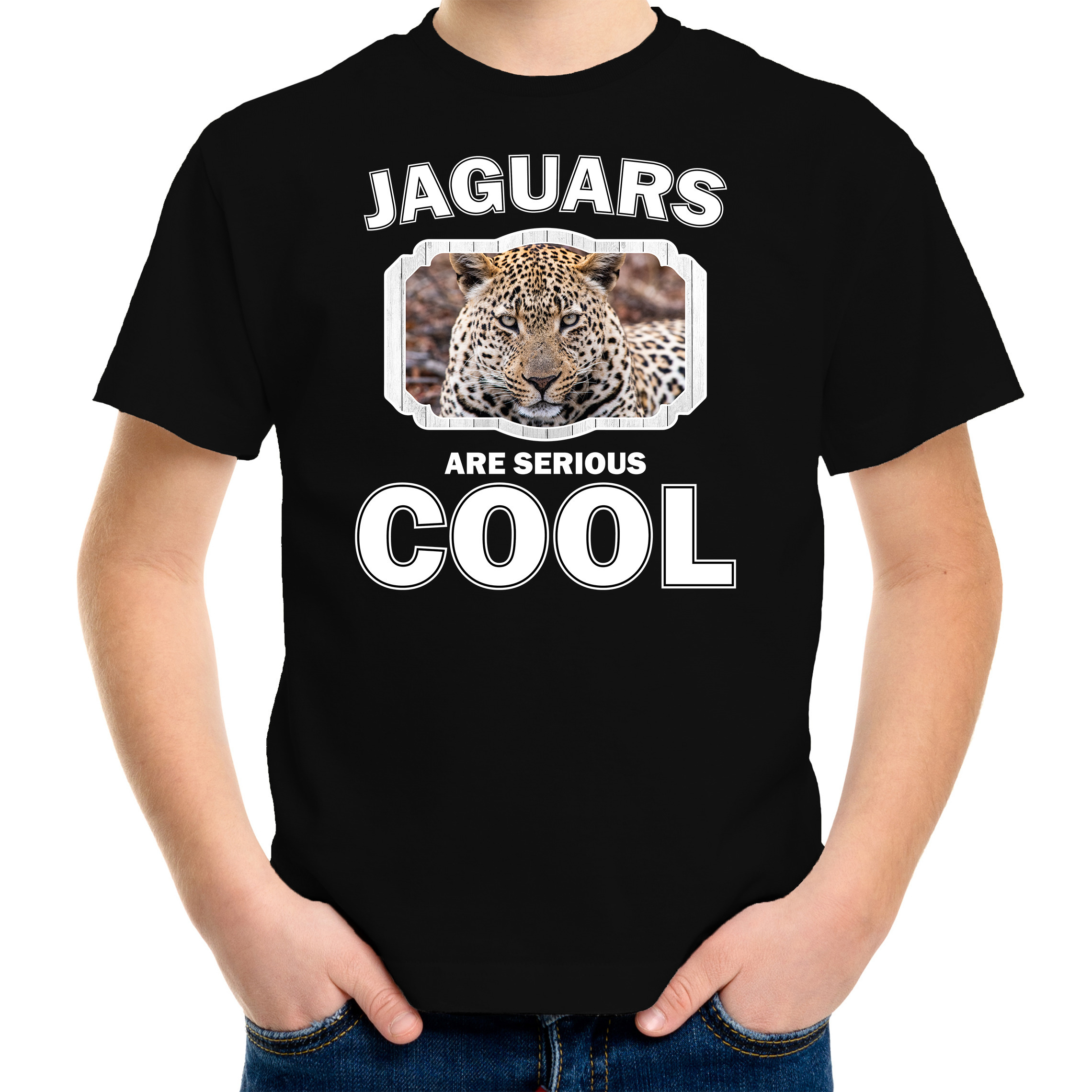 T-shirt jaguars are serious cool zwart kinderen - jaguars/ jaguar shirt