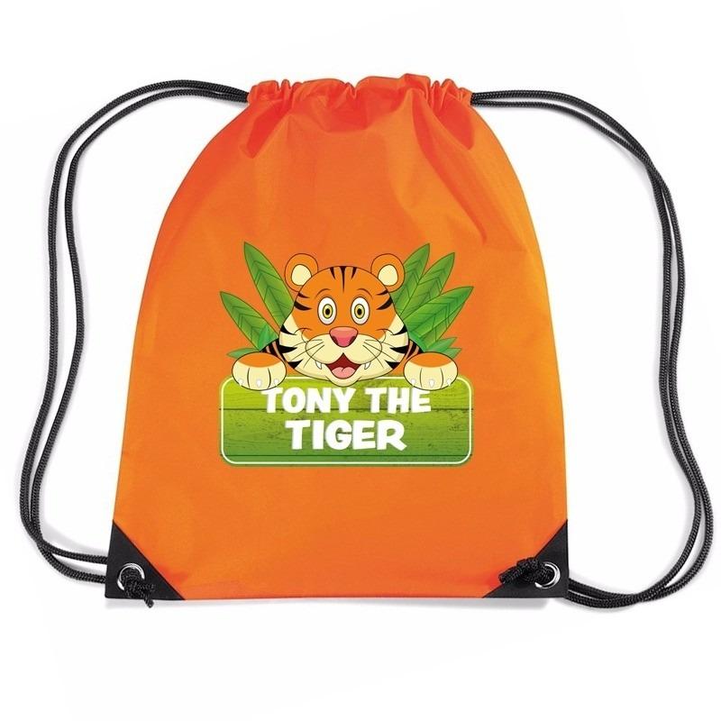 Tony the Tiger tijger trekkoord rugzak - gymtas oranje voor kinderen