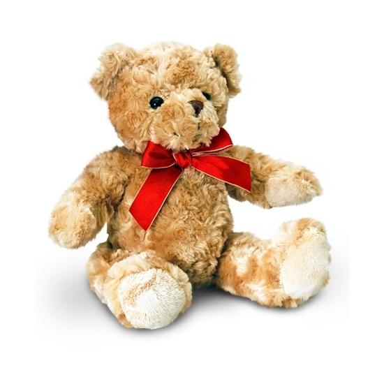 Traditionele bruine beer zittend 25cm