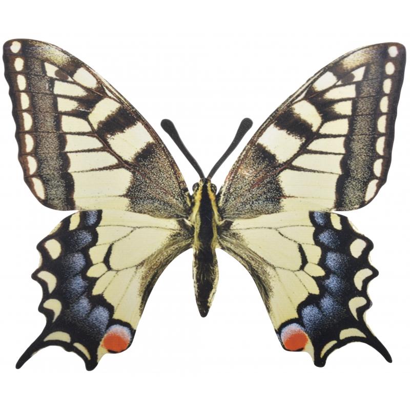 Tuindecoratie koninginnenpage muurvlinder van metaal 25 cm