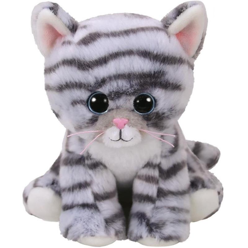 Ty Beanie grijze katten knuffel Millie 15 cm knuffeldieren