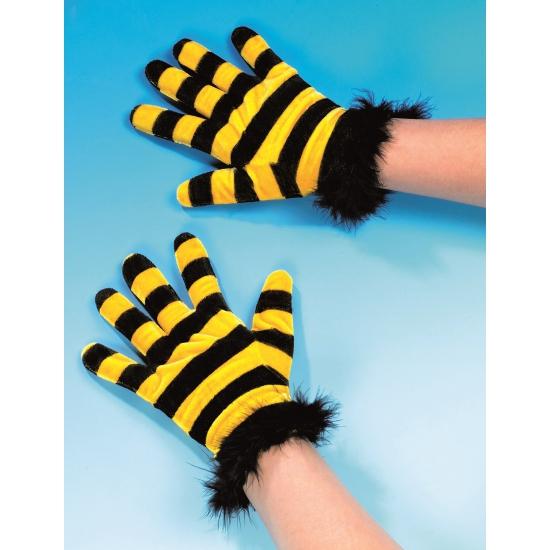 Verkleed handschoenen bijen motief