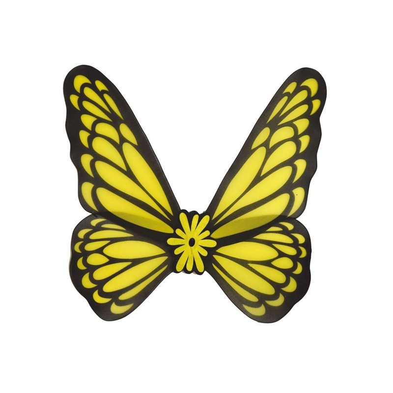 Verkleed vleugels vlinder geel volwassenen