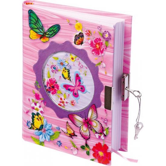 Vlinder dagboekje met slot