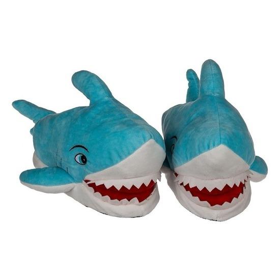 Warme haaien pantoffels voor volwassenen