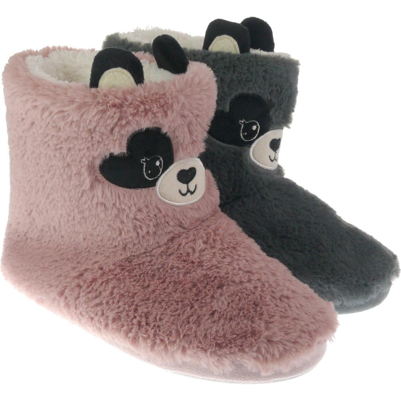 Afbeelding Warme pluche muis/muizen dieren sloffen/pantoffels voor dames roze door Animals Giftshop