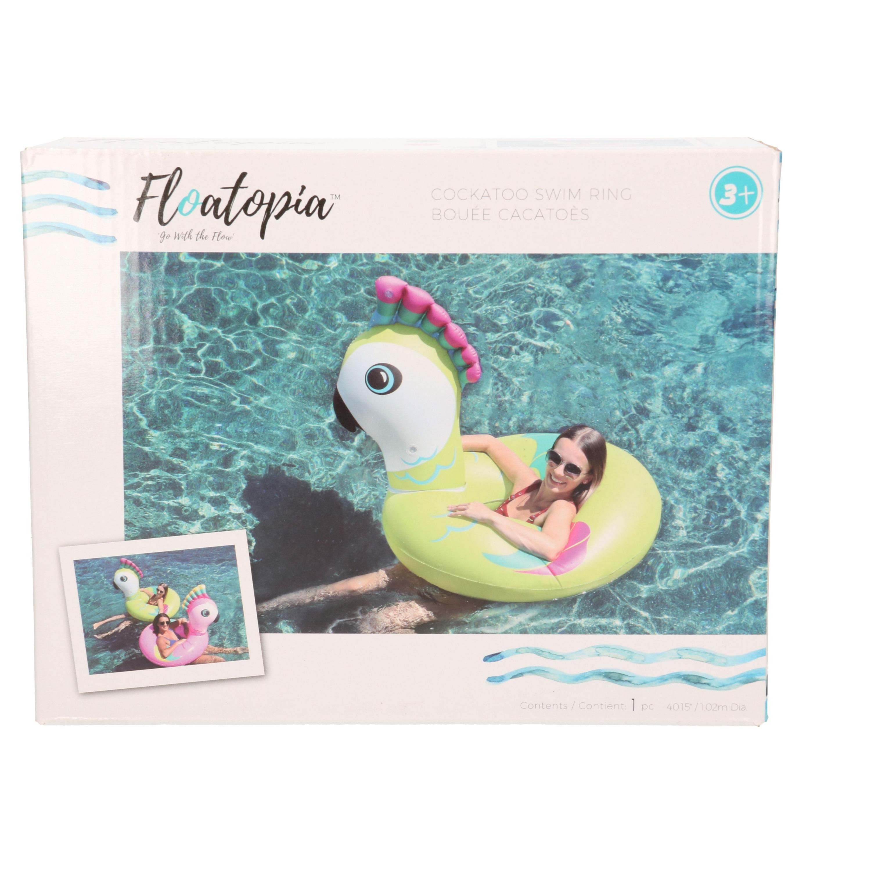 Waterspeelgoed gekleurde vogel zwemband/zwemring 88 x 101 x 82 cm voor jongens/meisjes/kinderen en dames/heren/volwassenen