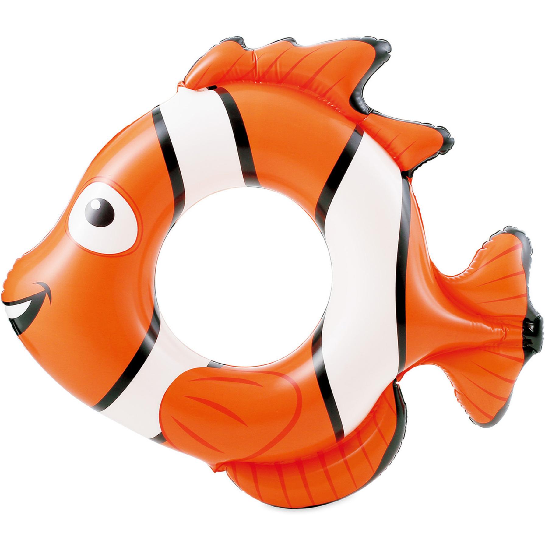 Waterspeelgoed oranje vis zwemband/zwemring 66 x 72 x 15 cm voor jongens/meisjes/kinderen